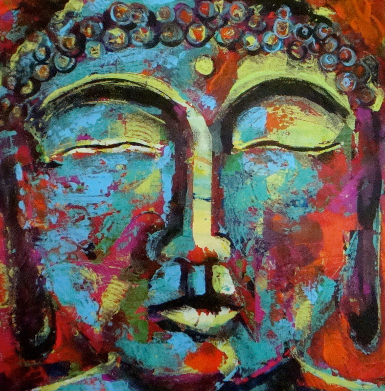 Beloved buddha paintings techniques paintings subject for Buddha mural paintings